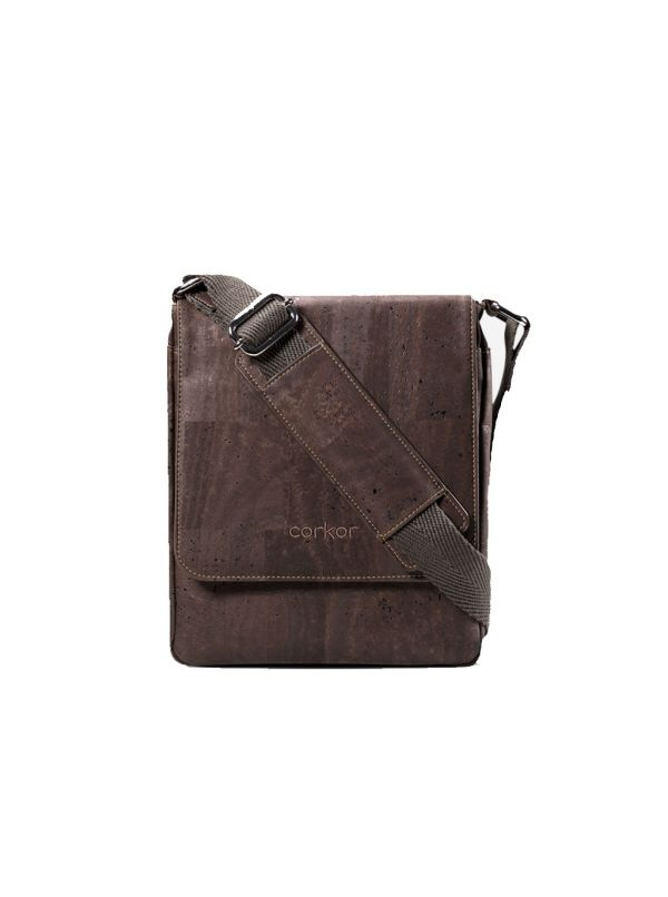 Laptoptas Corkor CK146C Dark Brown vooraanzicht